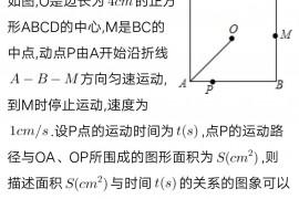 【八年级下数学】一次函数-点运动求面积的简单问题