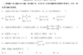 人教版七年级下册数学 第8章 二元一次方程组单元测评培优卷